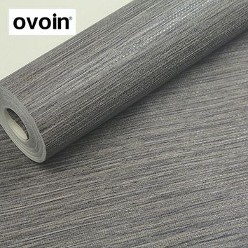 Yellow/White/Tan/Taupe Faux Grasscloth Dark Grey Textured Wall Paper Gray Modern Embossed Vinyl Wallpaper Roll For Hotel Bedroom