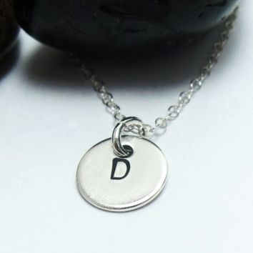 Tiny Tag Initial Necklace