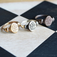 Fever Few Botanical Ring by Peg and Awl