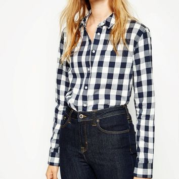 SHOTLAND BOYFRIEND LARGE CHECK SHIRT