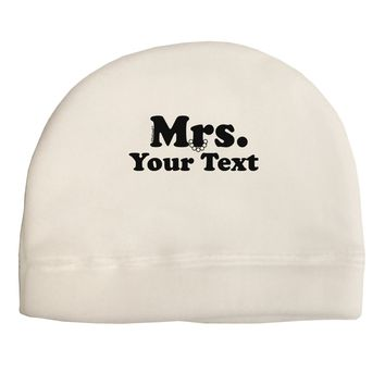 Personalized Mrs Classy Adult Fleece Beanie Cap Hat by TooLoud