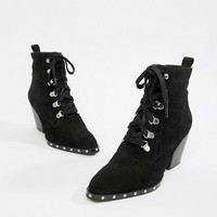 ASOS DESIGN Ritz suede lace up ankle boots at asos.com