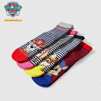 Promotion! 4pcs =2 Pairs Genuine Paw Patrol Baby kids Socks spring autumn Cotton children's sock for 3-9 years toy gift
