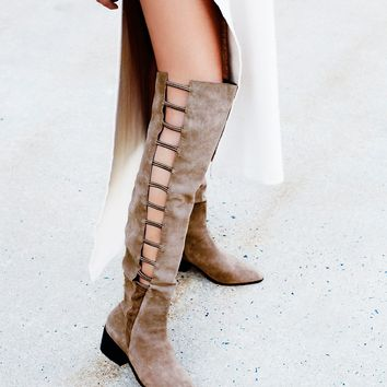 Free People Ladder Over the Knee Boot