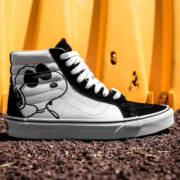 ESBON VANS X PEANUTS SK8-HI REISSUE - JOE COOL/BLACK