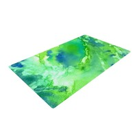 KESS InHouse Touch of Blue Green Area Rug