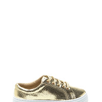 Reptile Take Metallic Flatform Sneakers