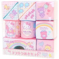 Hello Kitty software Tsumiki set cloth building block Tsumiki baby infant ☆ Sanrio baby article series ★ black cat DM service impossibility