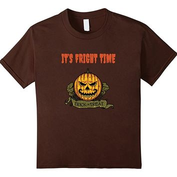 Scary Jack O Lantern Pumpkin Fright Halloween Trick T Shirt