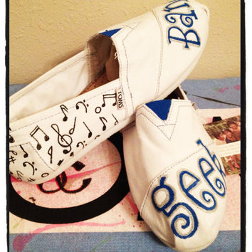 Custom Toms shoes/ Music Notes