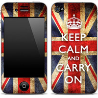 New Keep Calm & Carry On iPhone 4/4s or 5 iPod by DesignSkinz