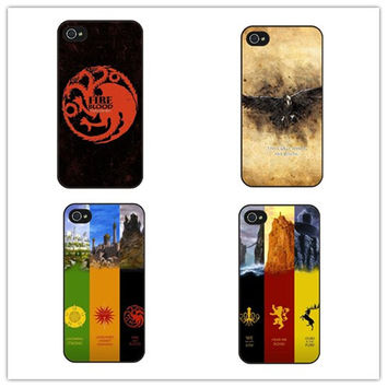 The Games of Thrones Case  Stark Jon Snow White Ghost Wolf Symbol Flag  for samsung S3 S4 S5mini S6 Edge S7 S7Edge Note2 3 4 5