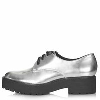 KOLE Heavy Lace Up Shoes - Silver