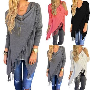 Women Winter Loose Long Sleeve Cotton Casual Blouse T Shirt Fashion Tunic Top