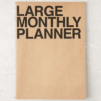 Poketo Large Monthly Planner Notebook - Urban Outfitters