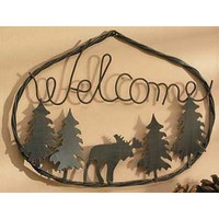 Wild Wings Moose Welcome Sign