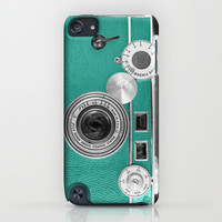 Teal retro vintage phone iPhone & iPod Case by Wood-n-Images
