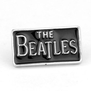 20pcs/lot The Beatles Brooch Letter Enamel Badge Pin Dress Accessory For Fans Gift brooches for men large brooches Freeshipping
