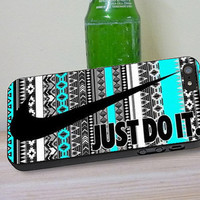 Nike Just Do It Aztec Mint, iPhone 4/4s, 5/5s, 5c, 6, 6 Plus, iPod 4,5 Touch, Samsung Galaxy s3,s4,s5, Note 2,3