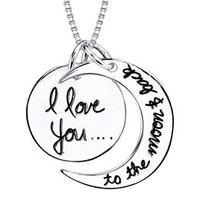 "Sterling ""Love You To The Moon"" Pendant"