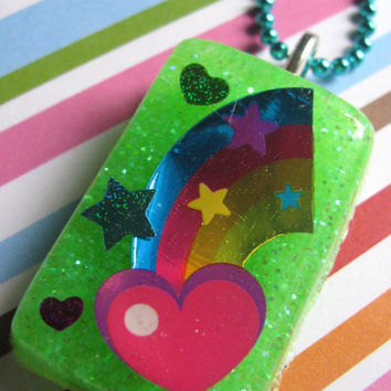 Neon Rainbow Fun Necklace by LDesigns02 on Etsy