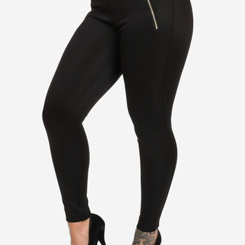Butt Lifting High Waisted Legging Pants (Black)