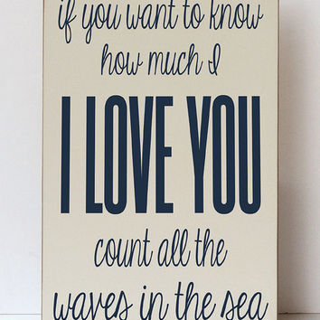 Cream & Navy Blue 'Waves of the Sea' Plaque | zulily