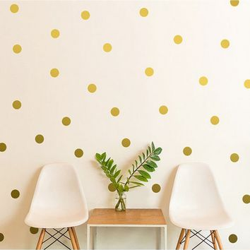 54pcs New Polka Dots Wall Sticker Nursery Stickers Kids Children Room Wall Decals Home Decor DIY Wall Decoration