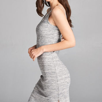 Marled Midi Dress