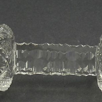 Large Cut Glass knife rest  Antique
