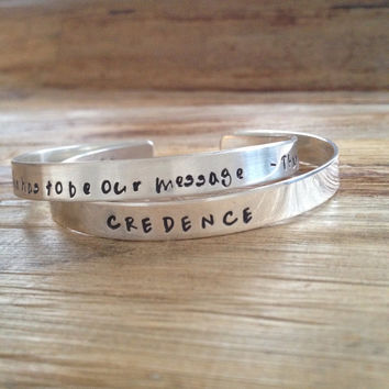 Engraved Bracelet - Customized - Cuff Bracelet - Solid Sterling Silver - Hand Stamped Jewelry - Personalized - Customizable Message Bracelet