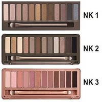 B4Y®12color Eyeshadow Palette Eye Shadow Fashion Makeup Set for Nk1, Nk2 , Nk 3 3pcs/lot