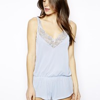 ASOS Boudoir Lace Trim Teddy