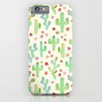 Watercolor Cacti iPhone & iPod Case by Tangerine-Tane