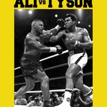 Muhammad Ali vs. Mike Tyson (18 x 12) Unknown Art Print