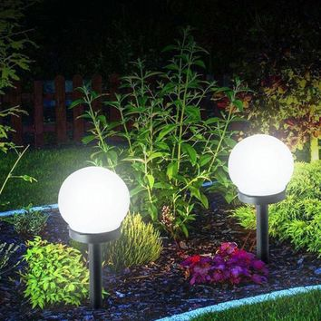 Led Solar Energy Powered Bulb Lamp 33cm Waterproof Outdoor Garden Street Solar Panel Ball Lights Lawn Yard Landscape Decorative