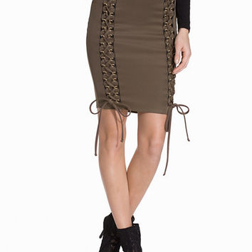 Lace Up Skirt, NLY One