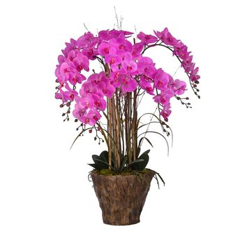 "38"" Tall Orchid Arrangement in Fiberstone Pot"