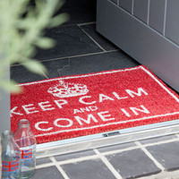 Retro To Go: Keep Calm And Come In Doormat