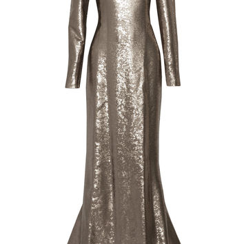 Sequined silk-satin gown | KAUFMANFRANCO | US | THE OUTNET