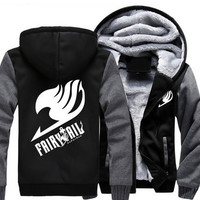 USA size Men Women Anime Fairy Tail cosplay Jacket sweatshirts & hoodies Thicken Hoodie Coat