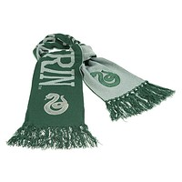 universal studios harry potter knit slytherin reversible scarf new with tags