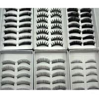 60 Pairs 6 Types Soft False Eyelash Eyelashes Eye Lashes Makeup Long Thick Hot