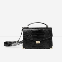 The Kooples United States Official Website - Mini black crocodile Emily bag
