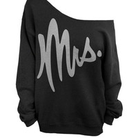 Mrs - Slouchy Off the Shoulder Sweatshirt