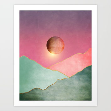 Surreal sunset 02 Art Print by marcogonzalez