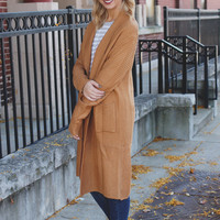 Chill of Fall Cardigan - Camel