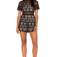 Alexis Alexandria Romper in Black Lace
