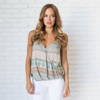 Potters Clay Print Tank Top