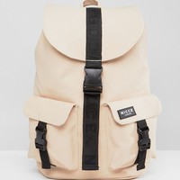 Nicce London Rubberised Backpack In Stone at asos.com